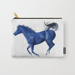 Happy Horse in Blue Carry-All Pouch