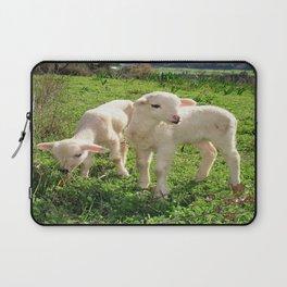 Spring Lambs Grazing On Farmland Laptop Sleeve