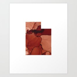 Red Rocks Inspired Utah Art Print