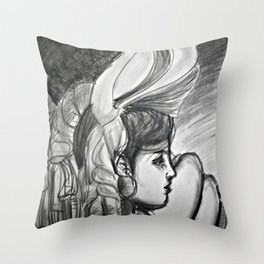 the Girlfriend(other woman) Throw Pillow