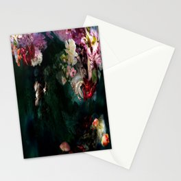 Flowers dark green Stationery Cards