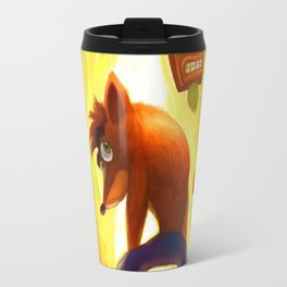 Crash Bandicoot Poster Travel Mug