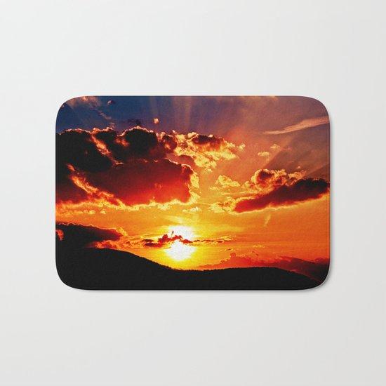 Cloudy sundown Bath Mat
