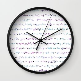 Dotted Lines in Soft Lavender Blues Wall Clock