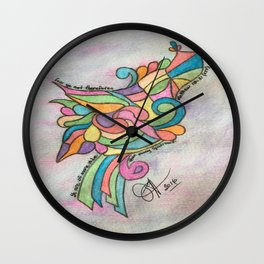 Sparrow Matthew 10:31 (KJV) Wall Clock