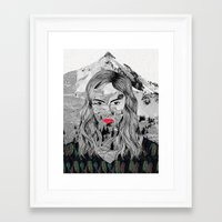 cara Framed Art Prints featuring Cara by Veronique de Jong · illustration