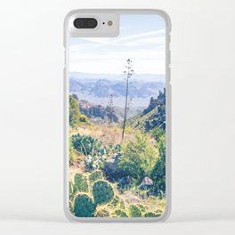 Vibrant Desert Landscape Clear iPhone Case