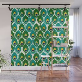 Abstract Peacock Pattern Wall Mural