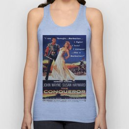 Vintage Movie Posters, The Conqueror Unisex Tank Top