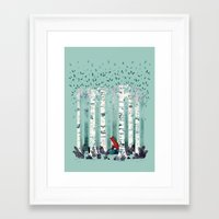 spring Framed Art Prints featuring The Birches by littleclyde