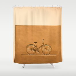 i like to ride my bicycle  Shower Curtain