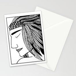 Native Indian Feathers Stationery Cards