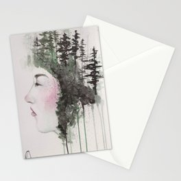 """""""Sometimes, even the snow is sad."""" Stationery Cards"""