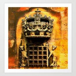 Windsor castle crest Art Print