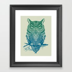Warrior Owl Framed Art Print