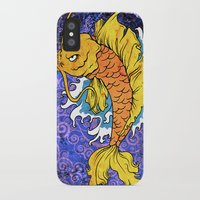 koi fish iPhone & iPod Cases featuring Koi Fish by Spooky Dooky
