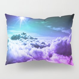 Cool Tone Ombre Clouds Pillow Sham