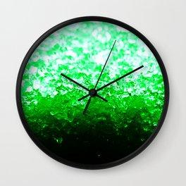 Emerald Green Ombre Crystals Wall Clock
