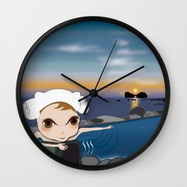 Deery Fairy in Hot Spring Wall Clock