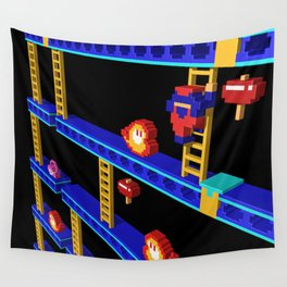 Inside Donkey Kong stage 4 Wall Tapestry