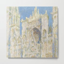 Claude Monet - Rouen Cathedral, West Façade, Sunlight Metal Print