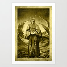 Dark Victorian Portrait Series: The End of Carcosa Art Print