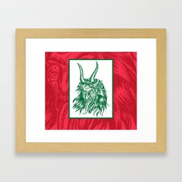 Here Comes Krampus! Framed Art Print