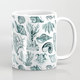 Vintage Nautical Illustrations in Verdigris Coffee Mug