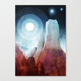 A rocky world Canvas Print