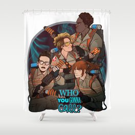 GHOSTBUSTERS 1e Shower Curtain