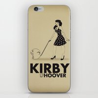 kirby iPhone & iPod Skins featuring Kirby Hoover by Lily's Factory