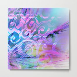 Watercolor Fibers Metal Print