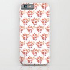 Orange floral pattern 2 iPhone 6s Slim Case