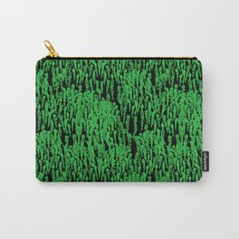 Cascading Wisteria in Green + Black Carry-All Pouch