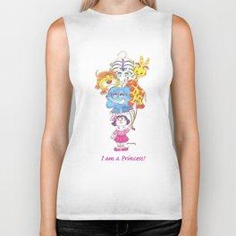 Animals - I am a Princess! Biker Tank