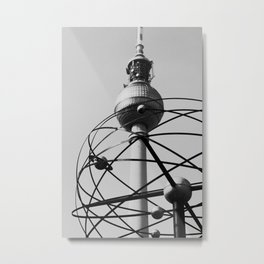 Berlin World Clock Metal Print