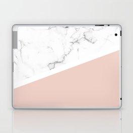 White Marble Pale Dogwood Laptop & iPad Skin