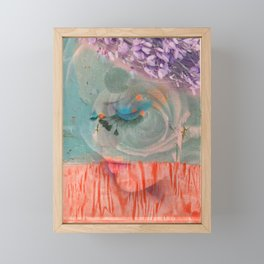 lavender, blue & peach portrait Framed Mini Art Print