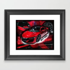 2017 NSX Framed Art Print
