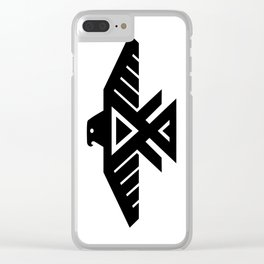 Native American Thunderbird Symbol Flag Clear iPhone Case
