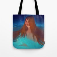 loish Tote Bags featuring surfacing by loish