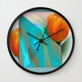 Tulip Sunrise Wall Clock