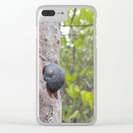 Mongrove snail Clear iPhone Case