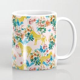 Floral & Zebras Coffee Mug