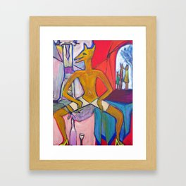 The circus performer Framed Art Print