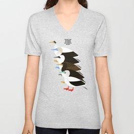 Booby Birds Unisex V-Neck