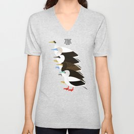 Booby Birds Unisex V-Neck