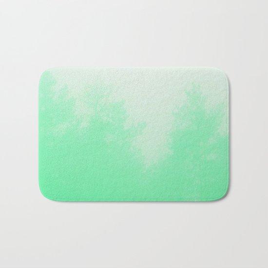 Out of focus - cool green Bath Mat