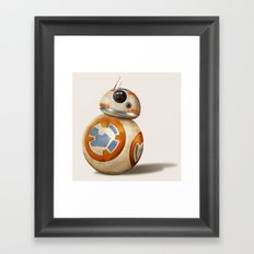 Cute Little Droid Framed Art Print