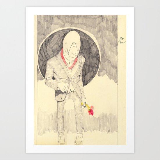 Q . Art Print